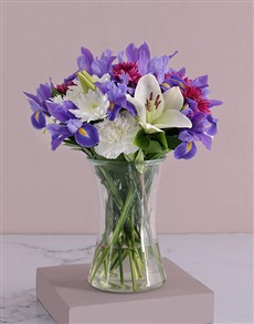 flowers: White Lilies and Iris Flair!