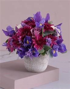 flowers: Petite Iris and Rose Pot!