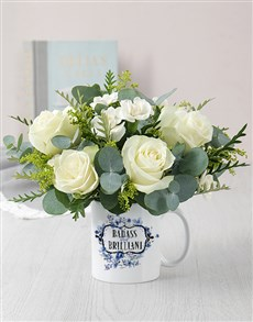 gifts: Personalised Badass and Brilliant Floral Mug!