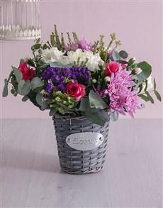 gifts: Floral Basket of Delight!