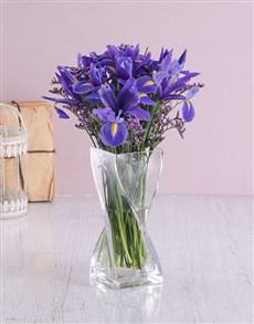 flowers: Glass Twist Iris Arrangement!