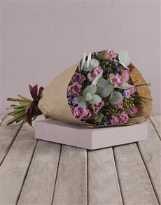 gifts: Lilac Roses and Gum Leaf Bouquet!