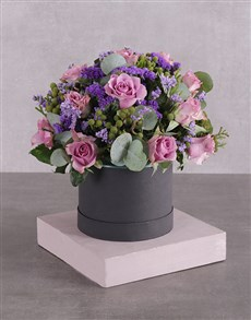 flowers: Hatbox of Lilac Roses!