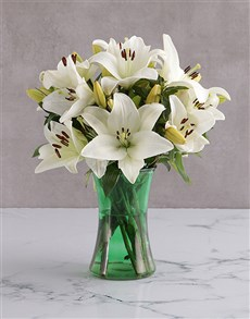 flowers: Angel White Lily Blossoms!