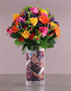 flowers: Personalised Roses in Magical Day Photo Vase!