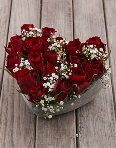 flowers: Ceramic Rose Heart!