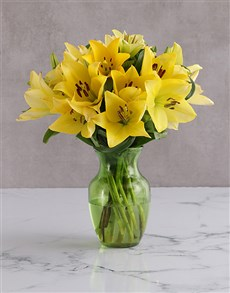 flowers: Yellow Delight Lily Blossoms!