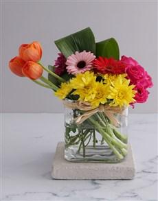 flowers: Summer Delight Tulip Arrangement!