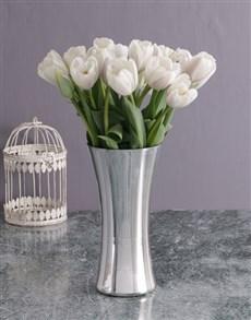 flowers: Elegant White Tulip Delights!