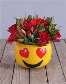 gifts: Red Rose Mix Emoji Pot!
