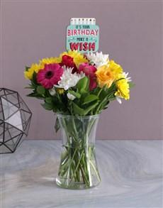 flowers: Happy Birthday Floral Bright Vase!