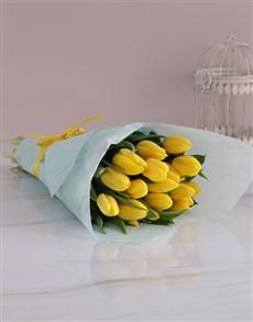 gifts: Elegant Yellow Tulip Bouquet!