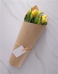gifts: Yellow Sensation Tulip Bouquet!