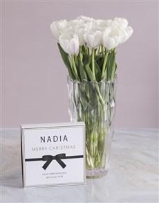 flowers: White Elegant Tulip Arrangements!