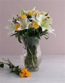 flowers: Floral Elegance In A Hurricane Vase!