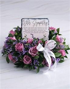 flowers: Purity Sympathy Wreath!