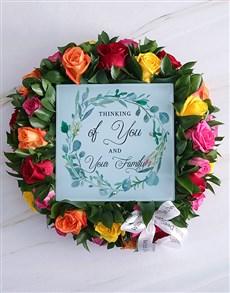 flowers: Thinking Of You Sympathy Wreath!