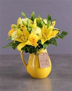 gifts: Wondrous Yellow Arrangements!