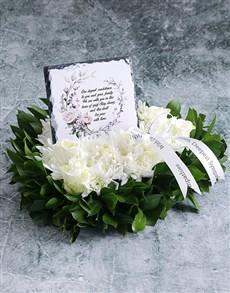 flowers: Deepest Condolences Sympathy Wreath!