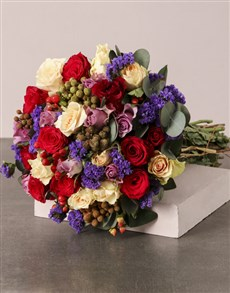 flowers: Colourful Country Bouquet!