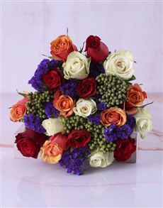 flowers: Bright and Bold Rose Bouquet!
