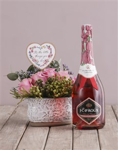 flowers: The Little Things Arrangement with Bubbly!