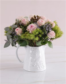 flowers: Jug of Pastel Blooms!