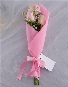 flowers: Trio of Pink Roses!