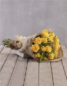 flowers: Cheerful Yellow Rose Bouquet!