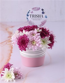 flowers: Personalised Thank You Spray Pot!