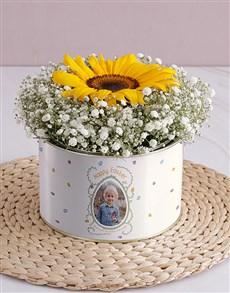 flowers: Personalised Happy Easter Single Sunflower!