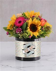 flowers: Personalised Confetti Cheers Birthday Box!