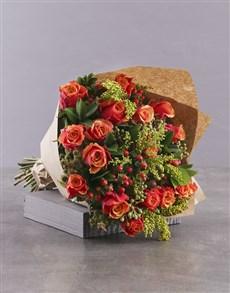 flowers: Classic Cherry Brandy Rose Bouquet!