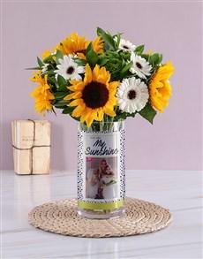flowers: Personalised My Sunshine Yellow Florals Photo Vase!