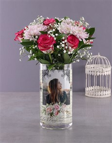 flowers: Personalised Million Star and Roses Photo Vase!