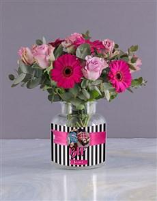 flowers: Personalised BFF Floral Photo Vase!