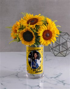 flowers: Personalised Well Done Flowers Photo Vase!
