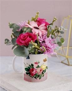 flowers: Rosy Flower Mug!