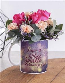 flowers: Leave A Sparkle Flower Mug!