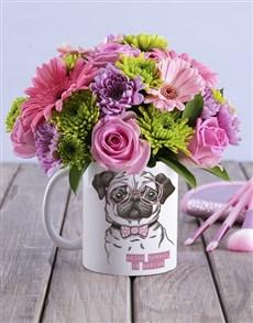 flowers: Flower Pug Mug!