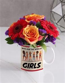 flowers: Girls Rose Floral Mug!