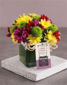 flowers: Radiant Sprays In Square Vase!