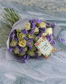 flowers: White Sympathy Roses!