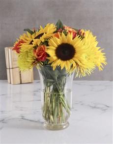 flowers: Sunflower Harvest Vase!