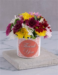 gifts: Thank you Spray in White Vase!