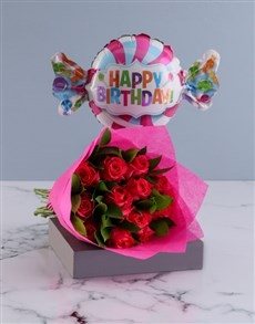 gifts: Happy Birthday Cerise Roses!