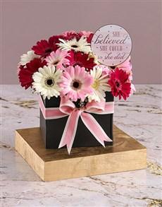 flowers: Congratulatory Gerberas in Black Box!