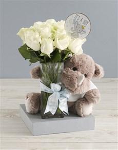 flowers: Baby Boy Welcome Arrangement!