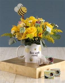 flowers: Bee Well Floral Mug!