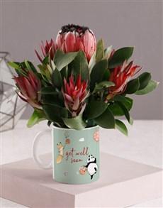 flowers: Get Well Soon Floral Mug!